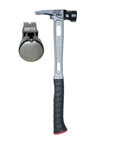 Martinez Tools M1 Titanium Handle 15oz Smooth Steel Head Curved Grip Framing Hammer