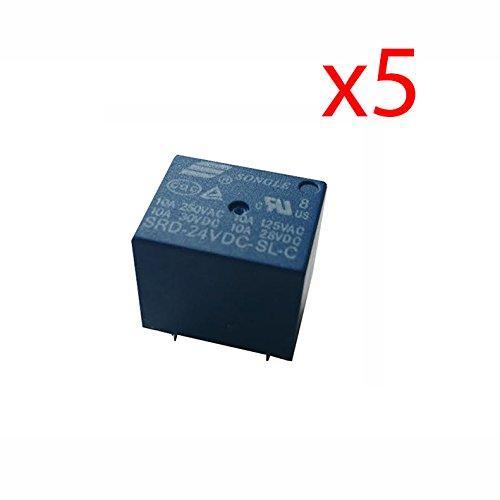 5X Rele 24v 10A SDR