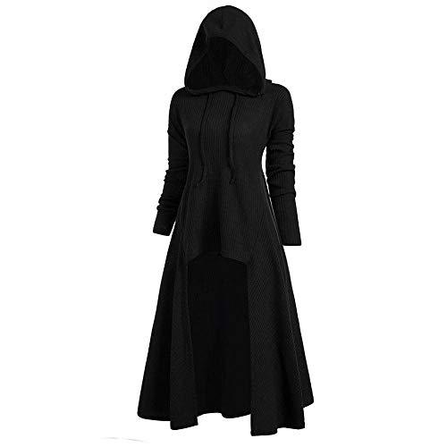 YEBIRAL Damen Langarm mit Kapuze Retro Vintage Mittelalter Renaissance Halloween Party Kostüm Kleider Große Größen Lange Pullover Kleidung