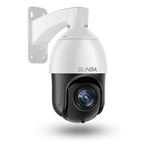 SUNBA Cámara PTZ Starlight PoE+ IP de 1080p para Exteriores, Zoom óptico 20x@H.265, Patrulla automática 24x7, visión Nocturna infrarroja de Largo Alcance de hasta 100m (405-D20X)