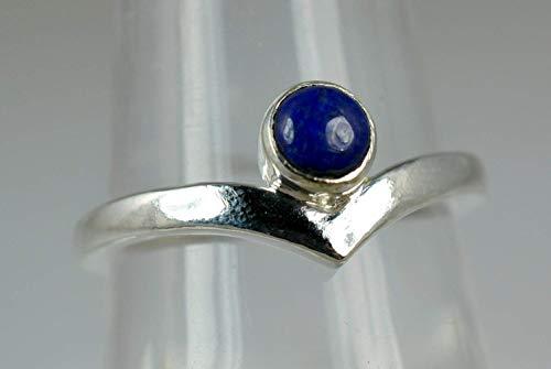 Lapislazuli Ring, Lapislazuli Silber Ring, 925 Sterling Silber, Edelstein-Ring, Silber Ring, Lapis Silber Ring, blauer Ring Größe 14 bis 22 DE
