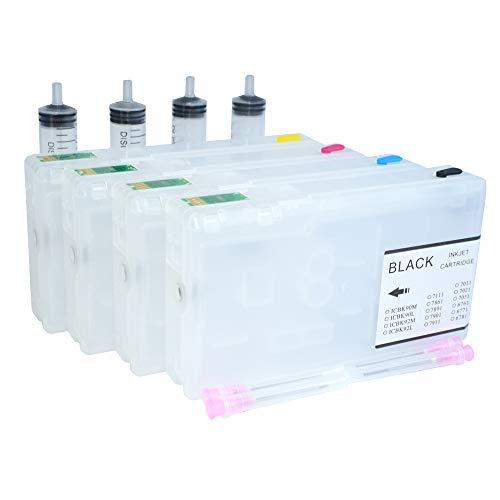Parte Impresora 4X OEM T788XXL 786XL Cartucho de Tinta Ajuste para Epson Workforce Pro WF4640 WF 4630 WF 5190 WF 5110 WF5620 WF5690 Cartucho Recargable (Color : Empty Cartridge)