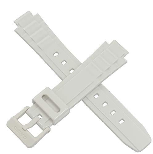 Casio 10478173 Uhrenarmband für LX-S700H LX S700H S700 Weiß