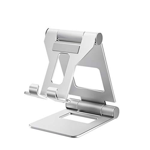 ZKHD Smartphone Land Holder, Lazy Bracket, Cell Phone Desk Stand Holder Aluminum Desktop Solid Portable Universal Desk Stand, All Smartphones Tablets Compatible