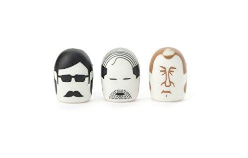Kikkerland Erasers, Mustache, Set of 2 (ER15P)