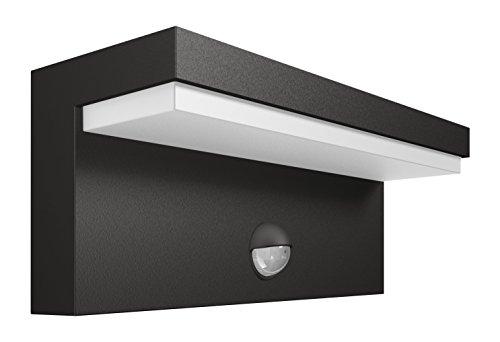 Philips 1648493P0 A++, myGarden LED Wandaussenleuchte Bustan, 1000 lm, Aluminium, 9 W, Integriert, anthrazit, 7.8 x 22 x 9.20 cm