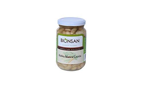 Bionsan Alubias Blancas Cocidas - 4 Paquetes de 400 gr - Total : 1600 gr