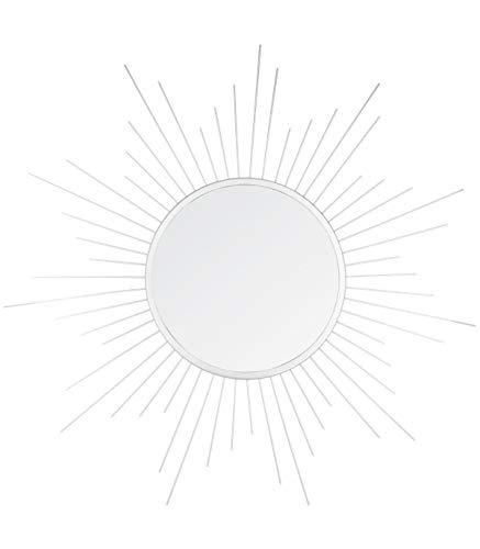 AC-Déco–Espejo Forma Sol D 60cm–Metal–Plateado