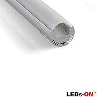 LED's ON AL-RO - Perfil redondo de aluminio para LED (1 m)