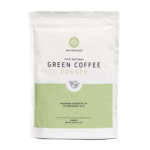 Neurogan Green Coffee Bean Powder Extract with Ingredients to Help Support Normal Weight Loss - 7oz / 200g, Maximum Strength Chlorogenic Acid - 100% Natural, Non-GMO