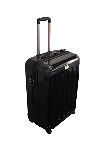 Venture - Hard Black 360 Degree 4WD Travel Luggage Suitcase 28'