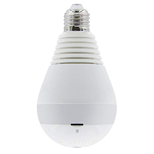 #N/A Cámara De Seguridad con Bombilla WiFi 1080P HD - Bombilla De Cámara IP Panorámica Inalámbrica De 360 Grados - Lámpara De Cámara con Luz LED De 2MP - - Luz Blanca