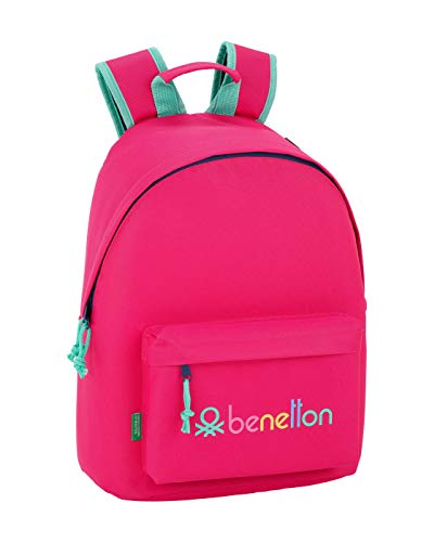 Benetton UCB Rubine Red Oficial Mochila Juvenil Para Portátil 14,1', 310x160x410mm