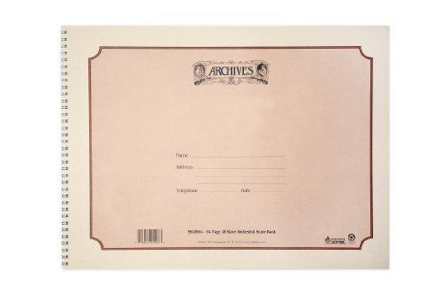 D'Addario SB18S64 Spiralnotenbuch, 18 Notenbalken, 64 Seiten
