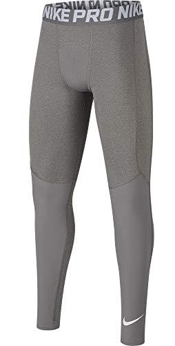 Nike Boys' Pro Dri-Fit Training Tights (Dark Heather Grey, Large)