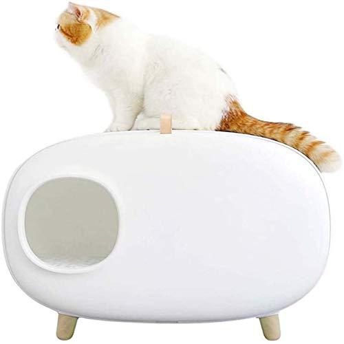 Lettiera pulita Facile pulito Clean Cat Letter Tray Splash Proof Cat Kit Scabina di lettiera per perdita di gatto con chiusura per grandi forniture per animali domestici gatti e conigli. Cassa premium