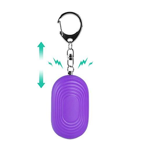 DAGCOT Persönliche Alarme, tragbare Sicherheitsalarme Schlüsselanhänger mit superstarker LED-Taschenlampe Notfall-Selbstverteidigung geeignet für Mädchen Ältere Nachtwanderer Studenten,Lila