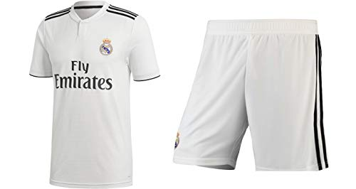 NAVEX RMSS Men's Football Fan Jersey and Shorts (White, Large)