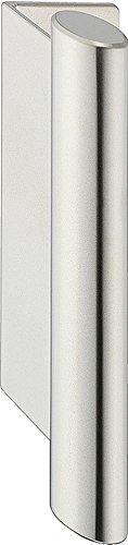 Gedotec Falttürgriff Möbelgriff Schiebetür für dünne Faltschiebetüren & Faltüren-Schränke - PUSH | Falt-Schiebetürgriff rund | Ziehgriff Stahl vernickelt matt | 1 Stück - Stangengriff oval