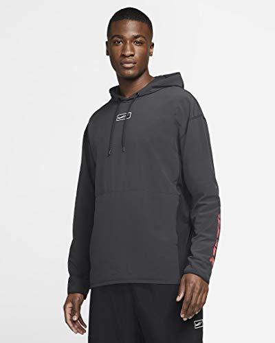 NIKE M NK WVN HD PO SC Sweatshirt, Black/(White), M-T Mens