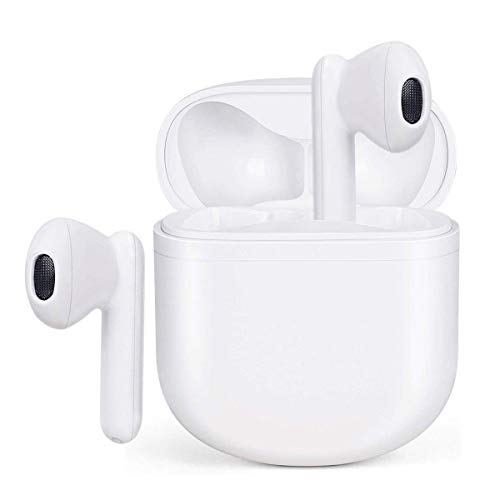 Wireless Earbuds Bluetooth 5.0 Headphones Waterproof Earphones with Charging Case 3D Stereo Earpods Air Buds in-Ear Ear Buds with Deep Bass Touch Control Headsets for Android/iPhone/Samsung