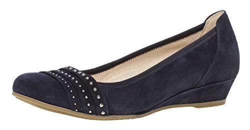 Gabor 22.693 Mujer,Bailarinas Clásicas,Zapatos Planos,Zapatos del Verano,de Moda,Remaches,Comfort-Mehrweite,Bluette,5 UK (Ropa)