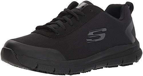 Skechers womens Comfort Flex Sr - Hc Health Care Professional Shoe, Black, 8.5 US