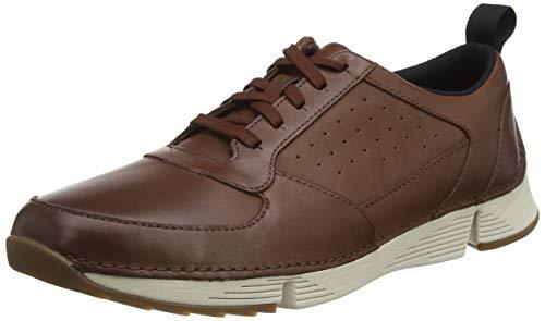 Clarks Tri Sprint, Zapatillas Hombre, Marrón (British Tan Leather British Tan Leather), 40 Eu