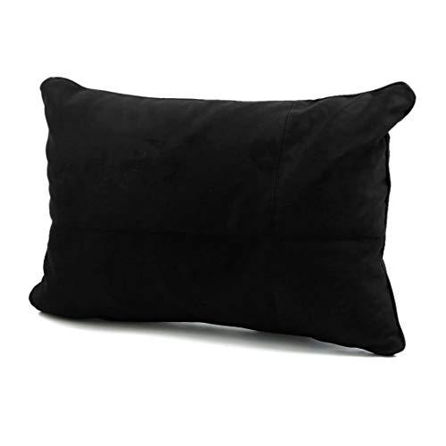 YeVhear - Cojín lumbar cuadrado de algodón negro