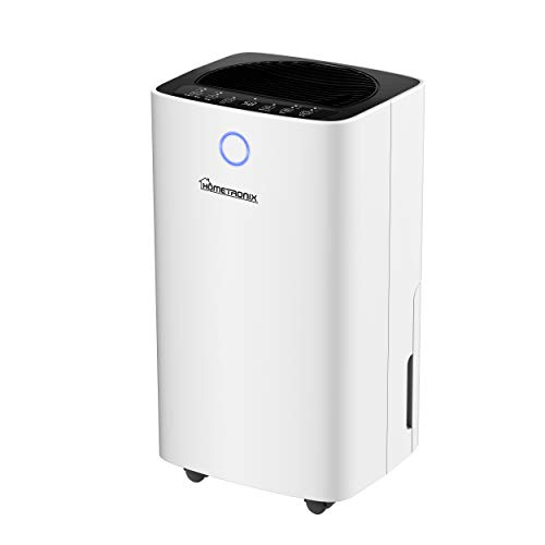 Allied UK HOMETRONIX 12L Dehumidifier for Mould Moisture Damp Extraction with Air Purifier 24 Hour Timer LED Display Laundry Drying Function