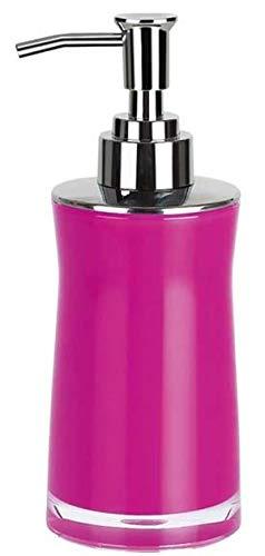 Spirella Seifenspender Sydney | mit Edelstahlpumpe | Flüssigseifen-Spender | Acryl | 200ml | Langliebig und Robust | Pink