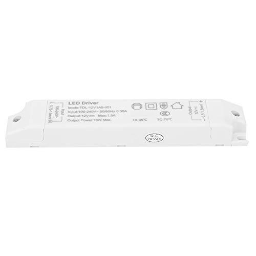 Adaptador de transformador de fuente de alimentación LED Driver 18W AC100V-240V a 12V 1.5A para monitor de pantalla LED