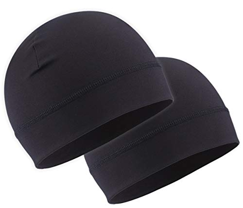 Skull Cap Helmet Liner & Running Beanie Hat - Winter Cycling Caps & Ski Head Hats for Men & Women for Skiing & Workout - Ultimate Thermal Retention & Performance Moisture Wicking - Fits Under Helmets