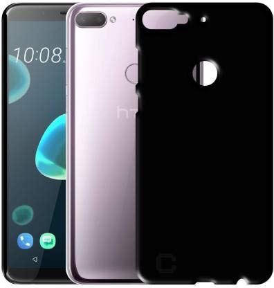S Fancy Rubberised Matte Soft Silicone TPU Flexible Back Case Cover for HTC Desire 12 Plus
