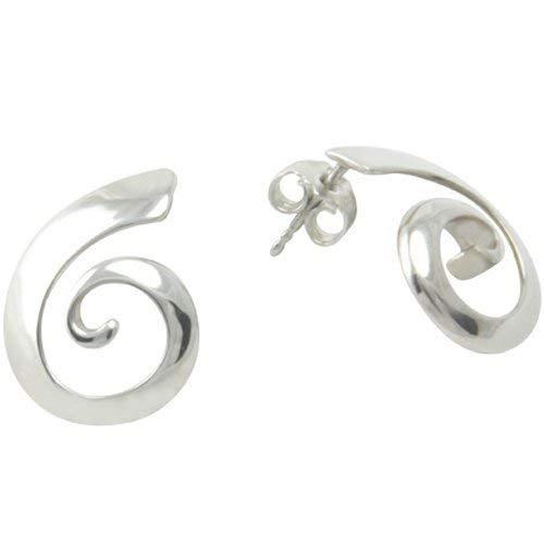 Spiralen Ohrstecker hochwertige Goldschmiedearbeit aus Deutschland (Sterling Silber 925) Spiralen Ohrringe, Damen Ohrstecker, Damen Ohrringe