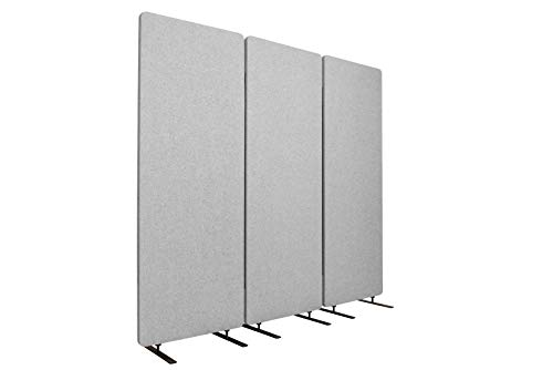 S Stand Up Desk Store ReFocus Acoustic Room Dividers | Office Partitions – Reduce Noise and Visual Distractions with These Easy to Install Wall Dividers (72' X 66', Cool Gray)