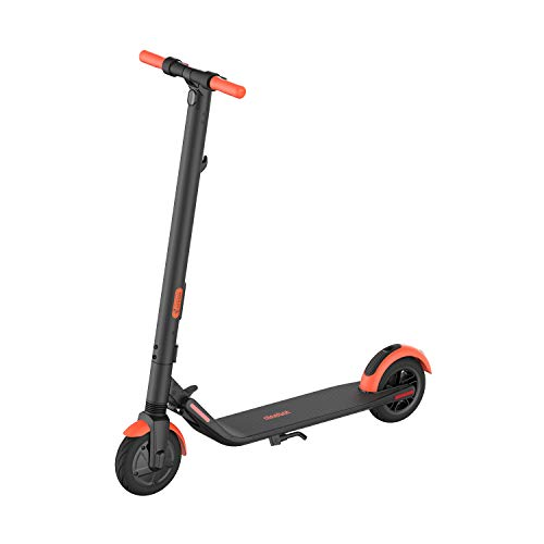 Segway Ninebot ES1L Electric Kick Scooter, Lightweight and Foldable, Upgraded Motor and Battery Pack, 8-inch Inner-Support Hollow Tires, Dark Grey; Orange $299