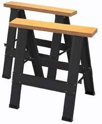 Harbor Freight Tools Two Piece Foldable Saw Horse Set by Harbor Freight Tools