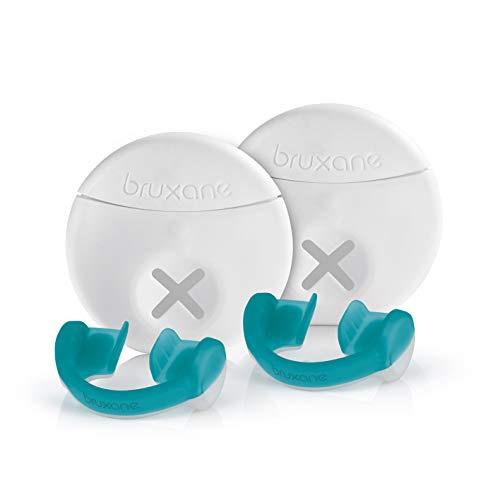 bruXane2go 2er Set intelligente Zahnschiene | Aufbissschiene mit Biofeedback zur Behandlung von Zähneknirschen | zum Schutz der Zähne [Tragedauer ca. 2 Monate, Knirschschiene für die Nacht]