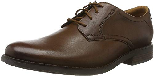 Clarks Becken Lace, Zapatos de Cordones Brogue para Hombre, Piel marrón Oscura, 44.5 EU