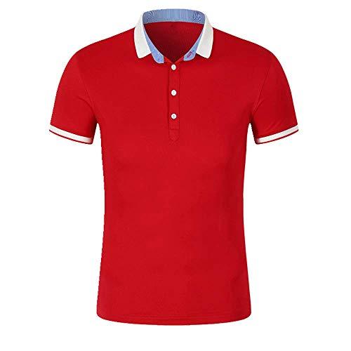 Nobrand Sommer-Polo-Shirt, kurzärmlig, Arbeitskleidung, Werbung, Herren Gr. XL, rot