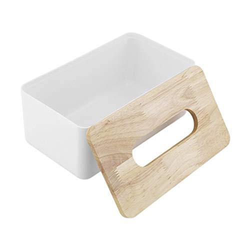 PP Caja de Paño de Madera de Roble Oficina En Casa Organizador de Contenedores de Coche Decoración para Tejido Extraíble Rectángulo Simple Forma