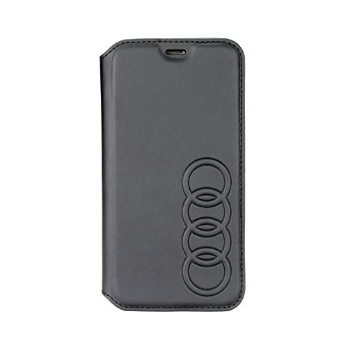 Audi - Custodia in Vera Pelle con Licenza Ufficiale Q8 per iPhone XR 64GB 128 GB 256 GB (Nero)
