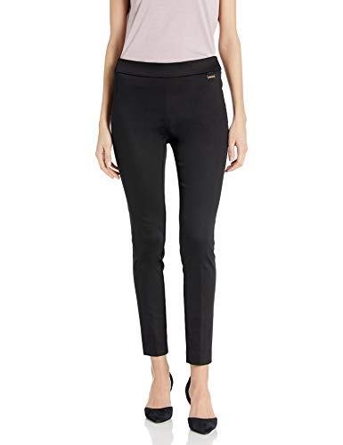 Calvin Klein Women's Pull On Stretch Pants (Regular and Plus Sizes), Cropped Black, Medium