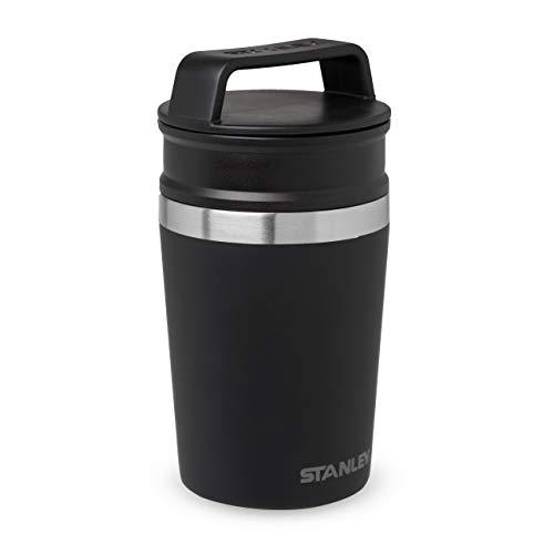 Stanley Adventure Shortstack Travel Mug – Auslaufsicher, | Doppelwandiger, vakuumisolierter Tee-und Kaffeebecher to go | Hält heiß und kalt | BPA-frei | Spülmaschinenfest, Matte Black, 236 ml
