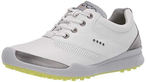 ECCO Women's Biom Hybrid Hydromax Golf Shoe, White, 10-10.5