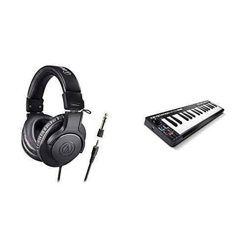 audio-technica Professional Monitor Headphones ATH-M20x/1.6 Cable Length 5.6 ft (1.6 m), Studio Recording, Instrument Practice, Mixing, DJ & M-Audio USB MIDI Keyboard 32 Keys Avid Pro Tools First M-Audio Edition Keystation Mini 32 MK3