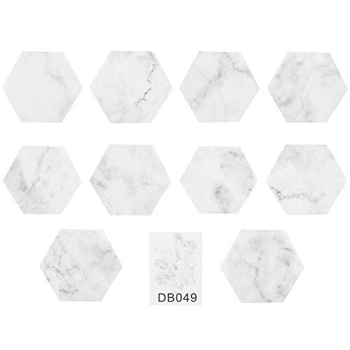 Marmor vinylgolvplattor 10 st vinylgolvklistermärke självhäftande vaxkaka gör-det-själv dekor golvplattor för badrum kök toalett toalett etc. slätt golv