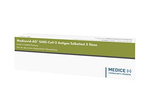 Medicovid-AG Corona Schnelltest Selbsttest, 5 Stück