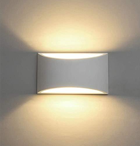 Applique da parete a LED Intonaco Applique su giù Illuminazione decorativa da parete interna con 7W L Luce G9 Cap Tipo Night Lamp per soggiorno Camera da letto Hall Scalinata Pathway (Warm White)